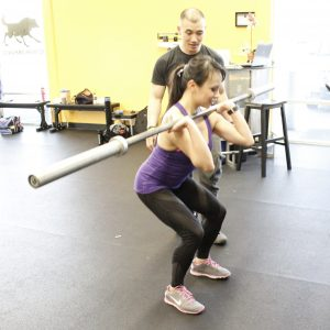 Working on foundation moves with Tim Chau of Training for Warriors Pacifica - Berniedette of Petite And Toned