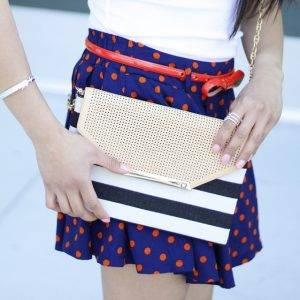 Red White And Blue_Stella Dot City Clutch Purse_Berniedette of Petite And Toned
