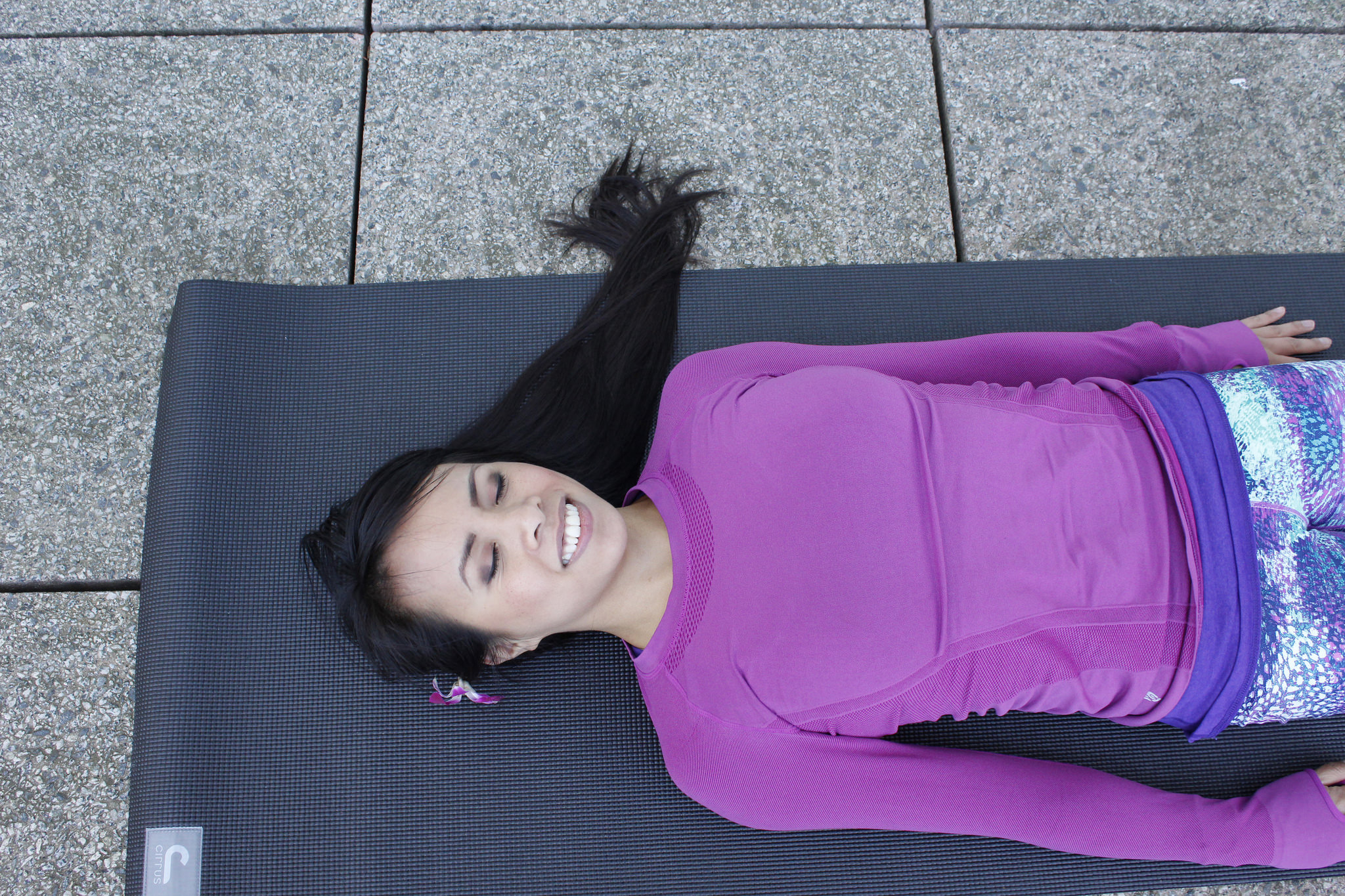 Chaturanga_Berniedette of Petite And Toned_Yoga In The Sky