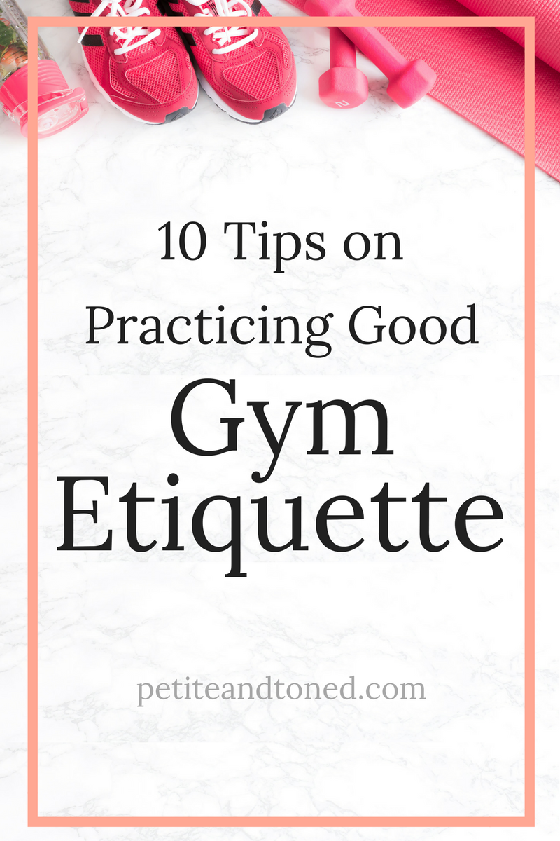 10 Tips on Practicing Good Gym Etiquette | Because deodorant is in, peeps! | PetiteAndToned.com