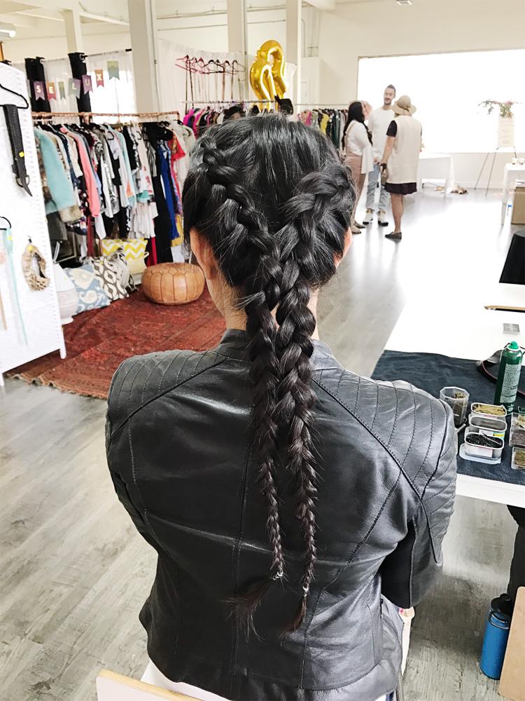 Morphic Braid Bar at Femme Fair | PetiteAndToned.com/Femme-Fair-2017
